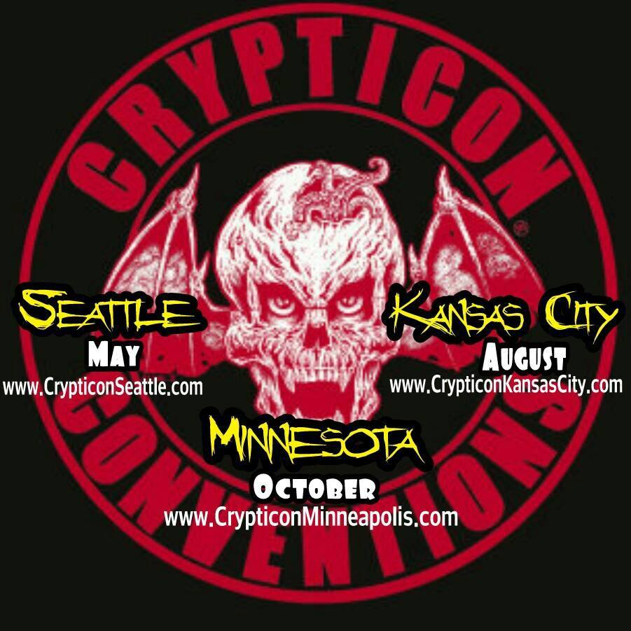 Crypticon Convention Locations - Seattle, Kansas City, Minnesota